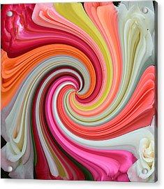 Rose Swirl 1 Acrylic Print