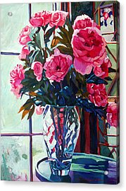 Rose Symphony Acrylic Print by David Lloyd Glover