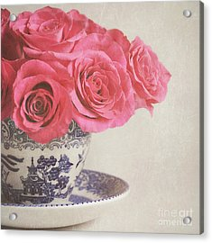 Acrylic Print featuring the photograph Rose Tea by Lyn Randle