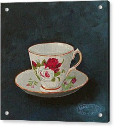 Rose Teacup Acrylic Print by Sharon Steinhaus