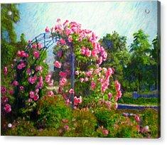 Rose Trellis Acrylic Print by Michael Durst
