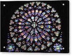 Rose Window Of Notre Dame Paris Acrylic Print