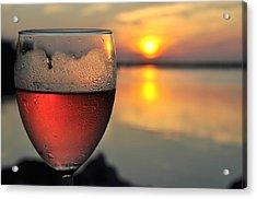 Rose Wine   Key Largo Sunset   Life Is Good Acrylic Print by Jonathan Galente