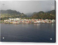 Acrylic Print featuring the photograph Roseau Dominica by Gary Wonning