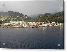 Roseau Dominica Acrylic Print by Gary Wonning