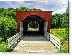 Roseman Covered Bridge Madison County Iowa  -  Std2 Acrylic Print by Frank J Benz
