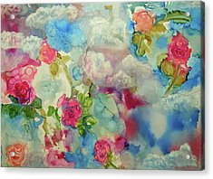 Roses Among The Clouds Acrylic Print