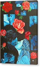 Roses And Kisses Acrylic Print by Susan M Woods
