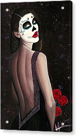 Roses And Sparkles Acrylic Print by Aaron  Montoya