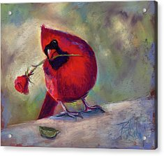 Acrylic Print featuring the painting Roses Are Red And So Am I  by Billie Colson