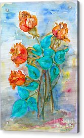 Roses Buds Acrylic Print