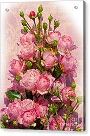 Roses Decor Acrylic Print by Lutz Baar
