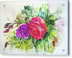 Roses For You Acrylic Print by Jasna Dragun