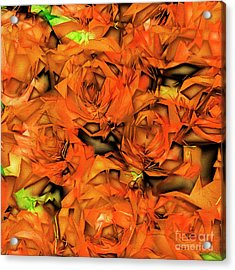 Acrylic Print featuring the photograph Roses In Abstract 20170325 Square by Wingsdomain Art and Photography
