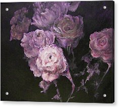 Roses In Mauve Acrylic Print
