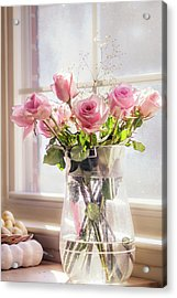 Acrylic Print featuring the photograph Roses In The Kitchen by Rima Biswas