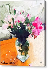 Roses In The Living Room Acrylic Print