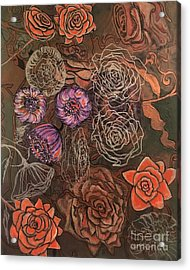 Roses In Time Acrylic Print