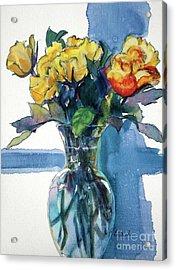 Roses In Vase Still Life I Acrylic Print
