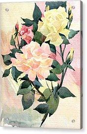 Roses Acrylic Print by Natalia Eremeyeva Duarte