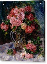 Roses Acrylic Print by Pierre Auguste Renoir