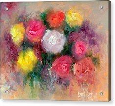 Roses Acrylic Print by Sally Seago