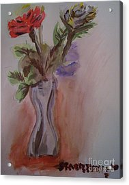Roses Acrylic Print by Stan Levine