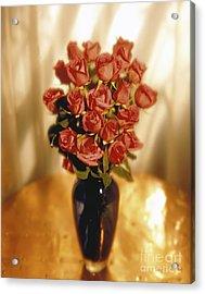 Roses Acrylic Print by Tony Cordoza