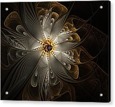 Rosette In Gold And Silver Acrylic Print