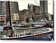 Roseway Boston Acrylic Print by Adrian LaRoque