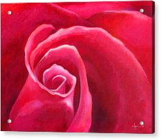 Rosey Lover Acrylic Print by Angela Treat Lyon