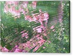 Rosey Ripples Acrylic Print
