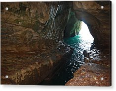 Acrylic Print featuring the photograph Rosh Hanikra Water Caves by Julie Alison