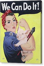 Rosie The Rescuer Acrylic Print