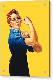 Rosie The Riveter Retro Style Acrylic Print