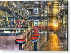 Rosies Diner Acrylic Print by Robert Pearson