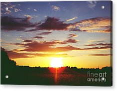 Rossington Sunset 2 Acrylic Print