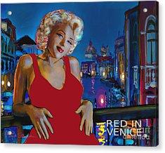 Rot In Venedig / Red In Venice Acrylic Print
