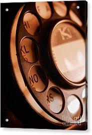 Rotary Dial Acrylic Print by Mark Miller