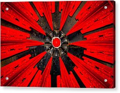 Rotary Snowplow Train Acrylic Print by Garry Gay