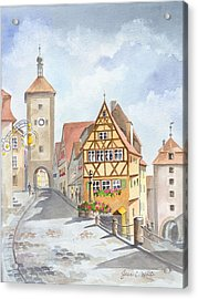 Rothenburg In Germany Acrylic Print by Jean White