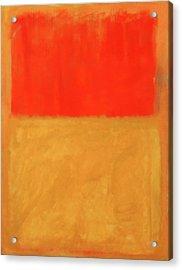 Rothko's Orange And Tan Acrylic Print