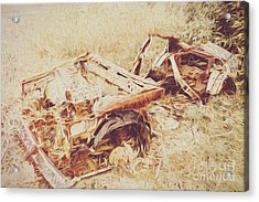 Rotting Radioactive Car Acrylic Print by Jorgo Photography - Wall Art Gallery