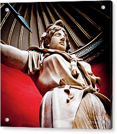 Rotunda Colossals 2 Of 3 Vatican Museum Ancient Statues Rome Italy Acrylic Print by Andy Smy
