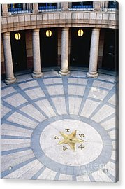 Rotunda In Texas State Capitol Acrylic Print by Jeremy Woodhouse