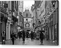 Rouen Street Acrylic Print by Eric Tressler