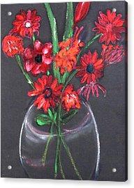 Rouge Et Noir Acrylic Print by Michela Akers