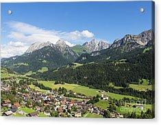 Rougemont Village In Switzerland Acrylic Print