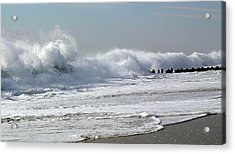 Rough Morning Acrylic Print by Mary Haber