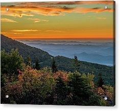 Rough Morning - Blue Ridge Parkway Sunrise Acrylic Print